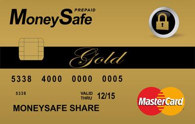 MoneySafe Prepaid Mastercard card