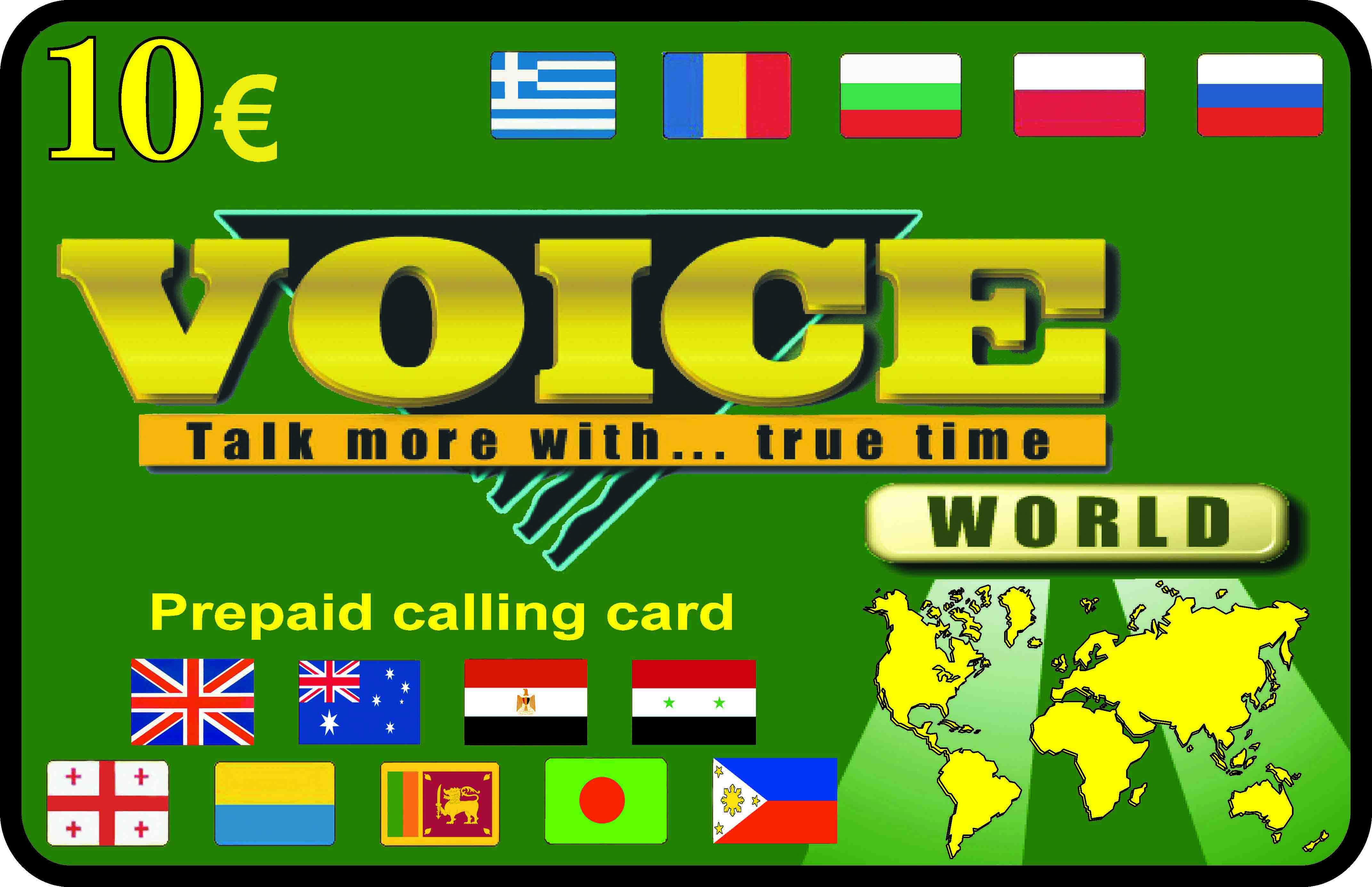 Voice International Calling Card card