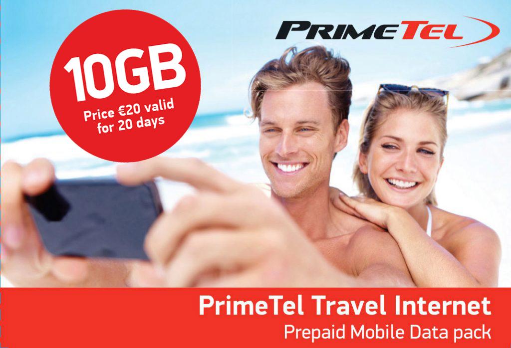 Primetel Travel Internet Pack