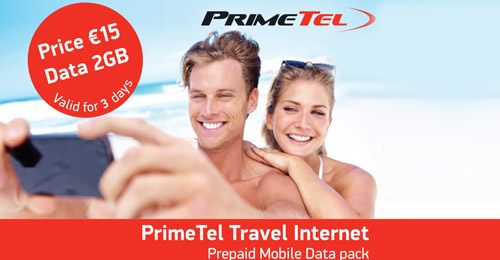 Primetel Travel Internet Pack